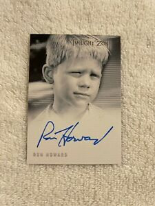 TWILIGHT ZONE RON HOWARD AUTOGRAPHED CARD, 2003 DATE, A67, NMT, WILCOX BOY