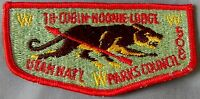 TU-CUBIN-NOONIE OA LODGE 508 UTAH NATIONAL PARKS BSA CHOCOLATE COUGAR S-3 FLAP