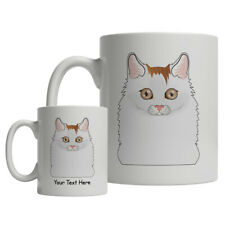 Turkish Van Cat Cartoon Mug - Personalized Text Coffee Tea Cup