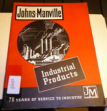 Vintage 1936 Johns-Manville Industrial Products Catalog
