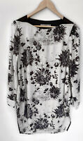 THE ARK stunning Printed Long Sleeve Top Blouse Size S 10 12
