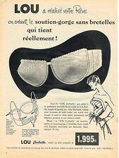 PUBLICITE ADVERTISING 0314   1956   LOU   soutien gorge sans bretelles