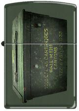 Zippo Ammo Crate / Can Green Matte Windproof Lighter NEW RARE