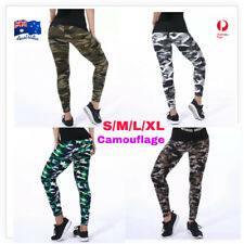 women's yoga leggings fitness running soft pants camo gym workout trouser army