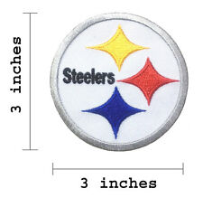 """Pittsburgh Steelers Size 3"""" Logo Embroidered Iron On Patch."""