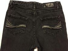 Bongo Girls Black Jeans Size 12 Silver on Back Pockets