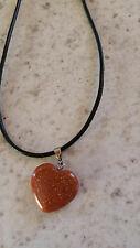 Goldstone Gemstone Heart Shaped Necklace