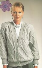 5243a2a6bbbee Ladies Knitting Pattern Copy Lattice Pattern CARDIGAN DK 8 Ply