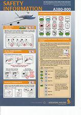 Safety Card singapore airlines a 380-800! a380-Hoja de seguridad forma validaciones 0447