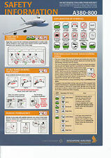 Safety Card Singapore Airlines A 380-800! A380 - Sicherheitsblatt Form SQA 0447