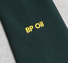 Aceite BP Camión Cisterna controlador Corbata Verde Oscuro Vintage 1970s por Ch Munday corporativo