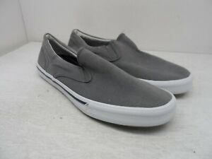 Sperry Men's Slip-On Striper II Twin Gore Casual Sneaker Grey Size 11M