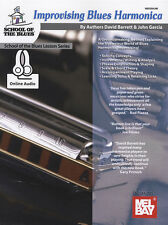 Improvising Blues Harmonica Sheet Music Book/Audio Learn How To Play Method