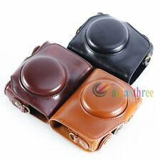 3 Colors High Quality PU Leather Camera Case Bag Cover For Canon Powershot G7X