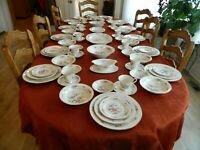 """Noritake Ivory China #7151 """"Asian Song"""" Set for (12) with (7) Serving Pieces 3-5"""