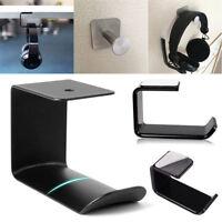 Headphone Stand Acrylic Hook Hanger Tape Under Desk Dual Headset Mount Holder