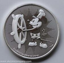2017 Niue Disney Mickey Mouse Steamboat Willy $2 Two Dollar Fine Silver Coin