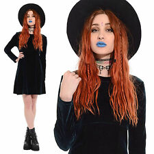 Vintage 90s Green VELVET Mini Dress Bodycon Stretch Goth Grunge Witchy Gypsy M