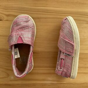 TOMS Pink/Silver Shoes Size T7