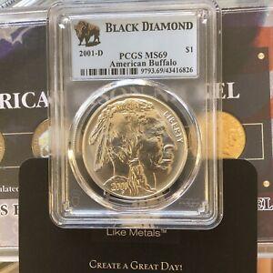 2001-D Buffalo Commemorative Silver Dollar - PCGS MS69 Black Diamond $1
