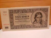 CZECHOSLOVAKIA 1000 Korun 1945 (PH) UNC