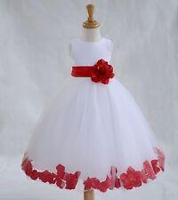 Flower Girl Dress Wedding Dress Birthday Dress Pageant Dresses Rose Petals Dress