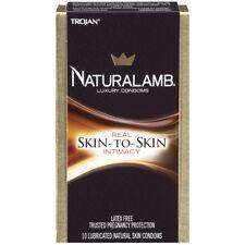 Trojan Condoms - Naturalamb Lubricated - 10 count