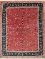 All Over Floral Pakistani Handmade Wool Oriental 300 Knots Oushak Rug 8 x 10