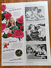 1947 FTD Ad  Flowers by Wire Busy Christmas Shoppers
