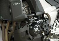 R&G Black Crash Protectors - Aero Style for Kawasaki Versys 1000 2015