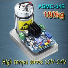 Free shipping, ASMC -04B High power high torque servo the 12V-24V 180kg.cm