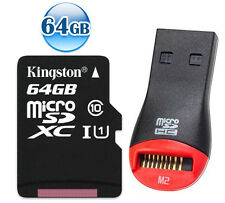 KINGSTON 80MB/s CLASS10 microSDXC 64GB 64G micro SDXC micro SD UHS Memory Card +