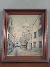VTG Maurice Utrillo Sacre Coeur De Montmartre Framed Art Painting Print On Board