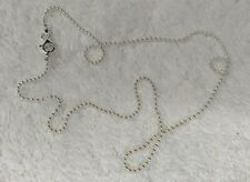 Bead Chain -- Sterling Silver -- 1.5mm* -- 24 inch* -- Made in Italy