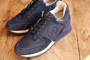 Louis Vuitton Blue White Runaway Suede Trainers Sneakers Ladies UK 5 EU 38