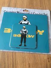 Banksy Soldier Computer Desk Mouse Mat Coaster Set New