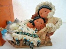 "Enescco 1997 Friends Of Feather ""Gift of Family Spirit"" family dogsled in box"