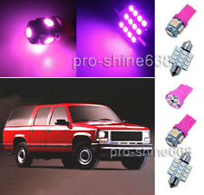 12PCS Pink LED lights interior package kit for Chevy/GMC Suburban 1995-1999