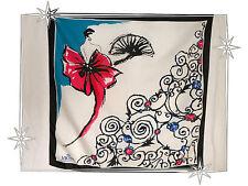 Pañuelo De fantasía Blanco Marina Fucsia Vichy Célestin Poliéster 70 x 72cm