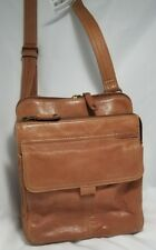 FOSSIL Brown Leather Travel Crossbody Organizer ZB 8944 Handbag Purse