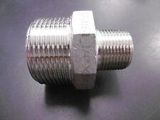 """Edelstahl Reduziernippel-Doppelnippel -AG/AG 1 1/4""""x 3/4"""" AISI 316 NEU"""