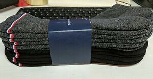 Tommy Hilfiger 6-Pair Athletic Low Cut Socks  Black/Gray