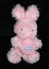 """Inter American HAPPY EASTER Egg BUNNY RABBIT 9"""" Pink Plush Soft Toy Stuffed Bow"""