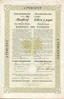 Tirolische Landes Hypotheken Anstalt Pfandbrief über 200 Kronen aus 1909