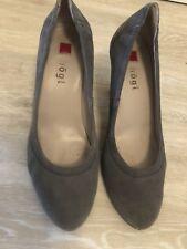 HÖGL Damen Pumps Gr. 38 (5) Grau Wildleder Schuhe Echtleder