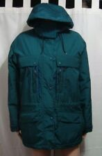 LL Bean Womans Vintage Wool Lined Parka Jacket with Removable Hood - Size M