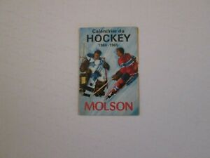 NHL Schedule -1964/65 -Molson Montreal Canadiens in French- avail only in Quebec