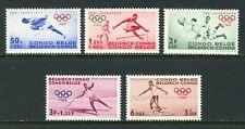 Belgian Congo Scott #B43-B47 MNH OLYMPICS 1960 Rome CV$5+