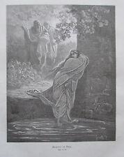 Susanna im Bade von Gustave Dore - Holzstich-Tafel aus ca. 1870