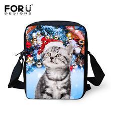 Gray Cat Teens Girls Shoulder Satchel Messenger Cross Body Bag Christmas Gift